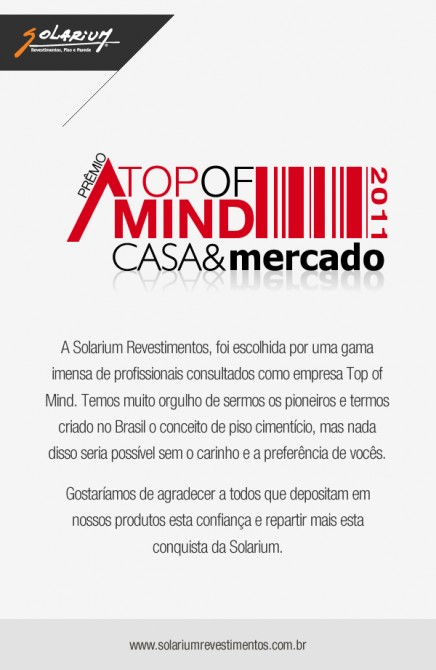 Top of Mind Casa&mercado