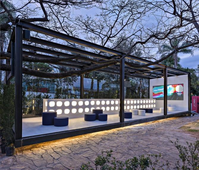 Ambiente Bilheteria na Casa Cor Minas Gerais 2013 com a linha Cobogó Atoll