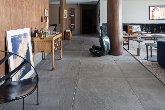Living do Colecionador com linha NewRock da Solarium na Casa Cor Brasília 2015