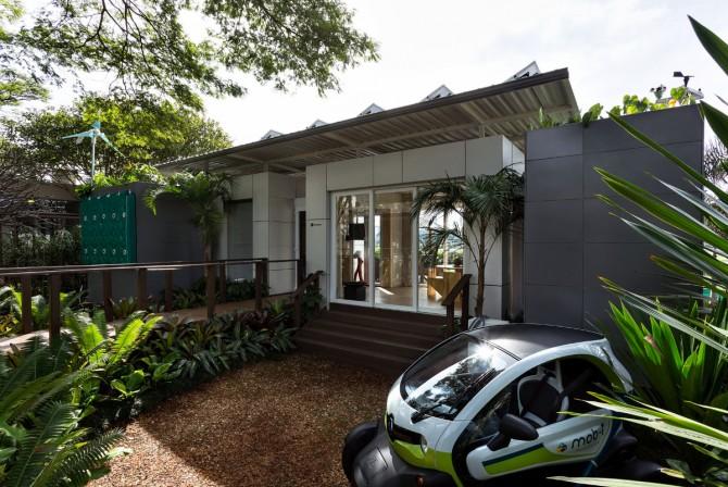 Fachada Ventilada da Solarium Engenharia na Casa Aqua da Casa Cor São Paulo 2016