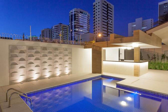 Projeto por Igor Cabral Arquitetura com linha Wave da Solarium