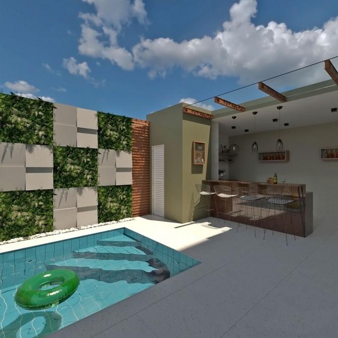Linha Classic em residência com piscina