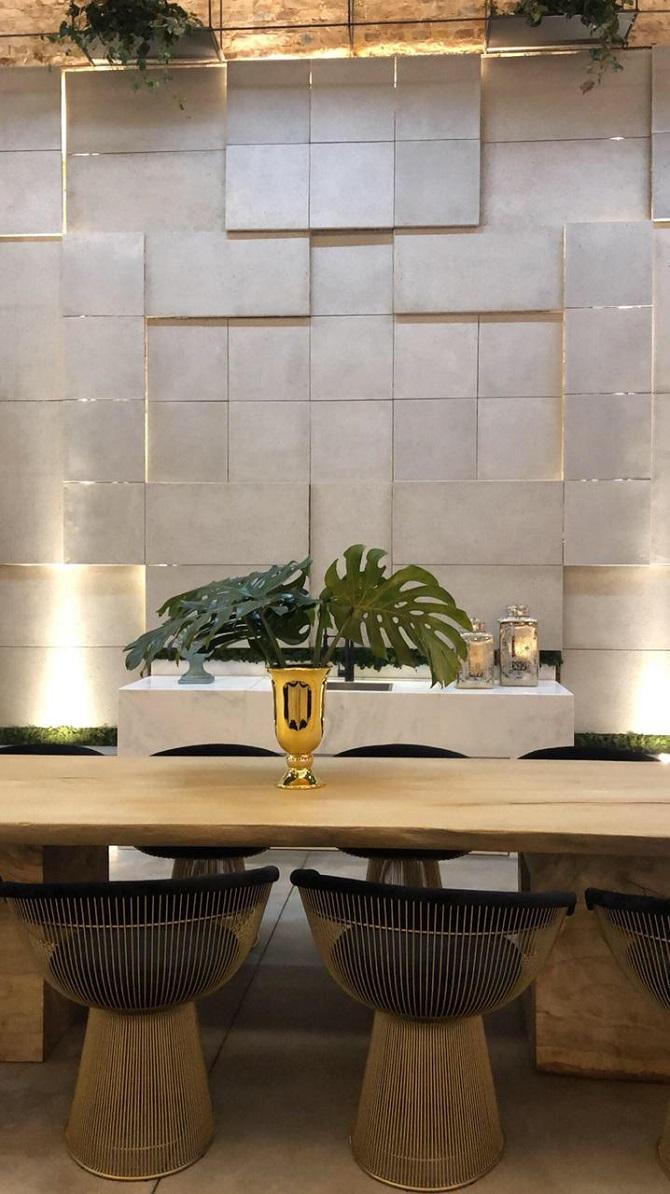 Capela Casa Cor POA 2019 com piso Drenaggio e revestimento Classic