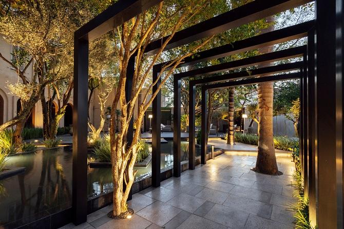 Área externa do Casa Cor POA 2019 com piso Solarium Classic